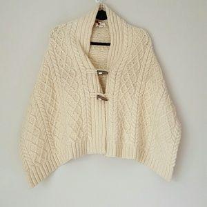 Banana Republic wool toggle cable knit wrap